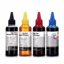 4 Universal Printer Refill Inks Dye Bottles for CISS or Refillable Cartridge