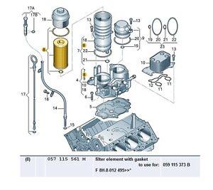 NEW GENUINE VW TOUAREG AUDI A6 A8 Q7 2.7 3.0 V6 QUATTRO OIL FILTER 057115561M