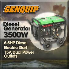 Generator Diesel GENQUIP 3500W (Maximum) 3000W (Cont.) Electric Start 6.6HP
