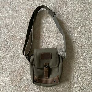RARE SAMPLE TIMBERLAND Earthkeepers Shoulder Bag Green With Leather Hits