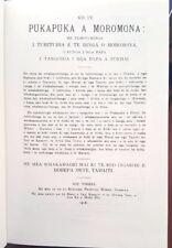 The Book of Mormon Māori Ko Te Pukapuka a Moromona 1918 Reprint Mormon Rare HB