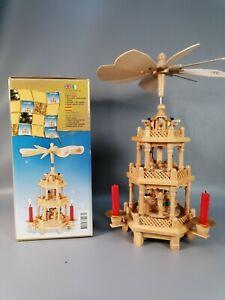 vintage wooden Christmas nativity 3 tier windmill carousel pyramid pagoda retro
