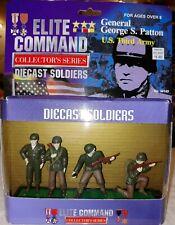WW#2, U.S. THIRD ARMY & GENERAL GEORGE PATTON, DIE CAST TOY SOLDIERS, BOXED SET