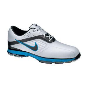 NEW Nike Lunar Prevail Mens Golf Shoes - White/Blue/Metallic [Size: 9.5 US]