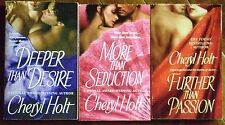 3 PBs CHERYL HOLT Regency Romance More than Seduction/Further than Passion+ OOP
