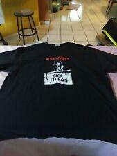 Alice Cooper Sick Things Vintage 90's Black T Shirt Size Men's XL Rock