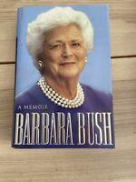 Barbara Bush U.S. First Lady George H.W. Bush - Signed Book Personal Bookplate