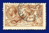 1915 SG406 2s6d Bright Yellow-Brown De La Rue N64(8) GU Bradford cvFU £275 axwq