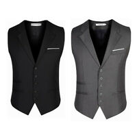Men's Trendy Botton Formal Business Slim Fit Dress Vest Suit Tuxedo Waistcoat