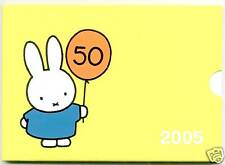 PAYS-BAS COFFRET OFFICIEL BU 2005 50 ANS MILLY LE LAPIN 8 PIECES +MÉDAILLE !!!!