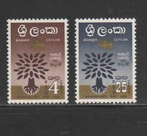 CEYLON #360-361  1960  WORLD REFUGEE YEAR       MINT VF NH  O.G  b