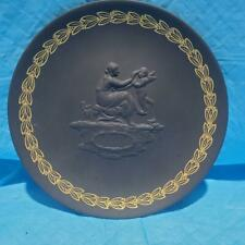 Wedgwood Black Basalt Mother Plate With Box And Papers # 271
