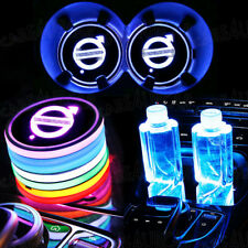2PCS for Volvo LED Car Cup Bottle Holder Pad Mat Auto Interior Atmosphere Lights
