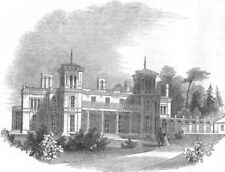SCOTLAND. Dundurn castle, Hamilton, Canada west, antique print, 1849
