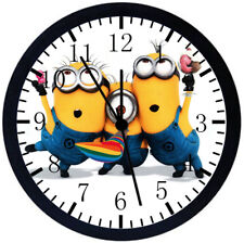 Cute Funny Minions Black Frame Wall Clock Nice For Decor or Gifts E50