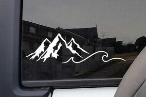 Mountain Wave Hiking Adventure Sticker Decal Car Laptop Window Wall