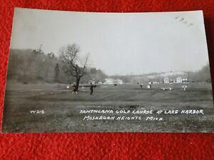 Vintage Real Photo Postcard RPPC Muskegon Heights Lake Harbor MIchigan