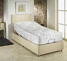 3FT SINGLE ADJUSTABLE ELECTRIC BED WITH 1500 POCKET MATTRESS AND HEADBOARD