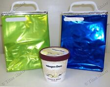 FIVE (5) Hot & Cold THERMAL LUNCH BAGS for Adults & Kids (REUSABLE / RECYCLABLE)