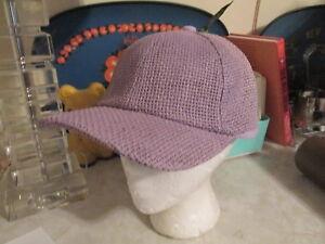 Free People Sunlit Swells Straw Baseball Hat - Purple NWOT