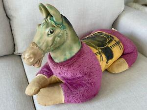 Vintage 1970s Stuffed Animal Plush Ride Sit-on Horse Rubber Head Children's Toy
