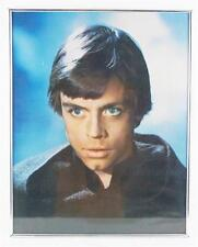 Vintage Star Wars Luke Skywalker Mark Hamill Mounted Poster