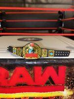 WWE wrestling figure accessory ELITE EUROPEAN CHAMPIONSHIP TITLE BELT mattel