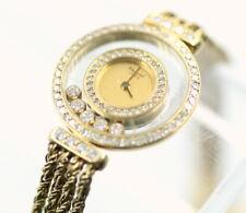 18K GOLD CHOPARD GENEVE HAPPY DIAMONDS LADIES DRESS WATCH 92 DIAMONDS NR #565-10