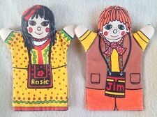 Rosie & Jim Hand Glove Puppets - Extremely Rare!!!