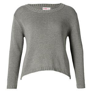 toller Basic Pullover Gr.56/58/60 GRAU Pulli zipfelig toll zum Lagen-Look