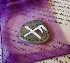 Good Luck Bind Rune Charm & Pouch. Lucky Bindrune Talisman Amulet. Pagan Witch