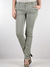 "Gas Womens Grey Green Noal Pants 29"" x 33"" BNWT Slim Stretch Jeans 365613 8 10"