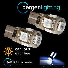 2x W5w T10 501 Canbus Error Free Blanca 5 Led matrícula bombillas np101301