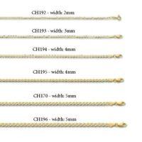Sólido 9CT Oro Amarillo Cadena Barbada Pulsera de Mujer Contraste 19.1cm