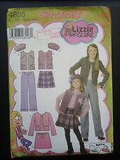 Simplicity Pattern 4895 Girl's Size 7 8 10 12 14 Jacket Vest Pants Skirt Uncut