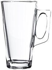 4  Latte Macchiato Kaffee Gläser Glas Kaffeegläser Teegläser mit Henkel 380 ml