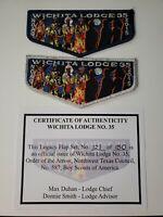 Boy Scout OA 35 Wichita Lodge 2015 Centennial NOAC Legacy Flap Set