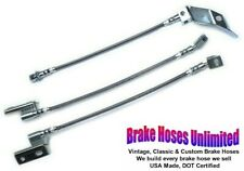 STAINLESS BRAKE HOSE SET Ford Mustang 1968 1969, Front Disc