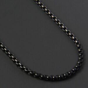 Classic 2MM Black Box Chain Necklace Men Titanium Steel Chain For Men Jwellery