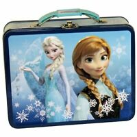 "Disney Frozen Tin Lunchbox- Ana & Elsa 3-D Embossed 8"" x 6"" x 3"""