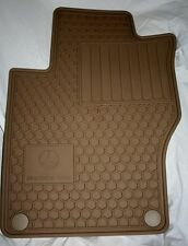 2010 TO 2014 Mercedes GLK350 Rubber Floor Mats - FACTORY OEM ITEMS - BEIGE