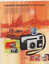 VINTAGE AD SHEET #2394 - 1973 KODAK CAMERA - HAWKEYE INSTAMATIC X