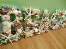 "Shell Letters, Beach Decor ""BEACH"" Shell Letters Sign, Seashells, Gift, Seashell"