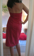 J. CREW Red Dress SHOWSTOPPER 4 Cotton Blend Strapless Wedding Party Summer
