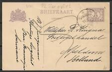 Surinam 1928 PPC Plantage Zorgvliet to Apeldoorn