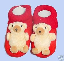 NEW animal Baby booties/slipper, Teddy Bear, Red 9-18m