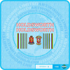 Holdsworth - Bicycle Decals Transfers Stickers - White With Red Key- Set 5