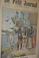 Le petit journal supplément illustré / 10 Avril 1898 / En mer essai de pigeons