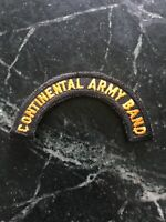 "Rare Vtg Continental Army Band US Tab Uniform Patch 3"" 70s 80s Black Orange"