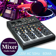 Professional 4-Channel Live Studio Audio Sound USB Mixer Power Mixing Console